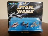 Galoob Micro Machines MIB Star Wars XII A Wing Y Wing TIE Starfighter Figure Set