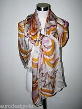 NWT AUTHENTIC EMILIO PUCCI SIGNATURE 100% SILK X-LARGE 25X68 SCARF/SHAWL Italy