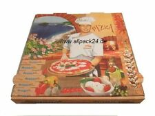 Pizzakarton, 100 Stk,  28x28x4 cm Pizzabox, Salatschale, Aluschale, allpack24