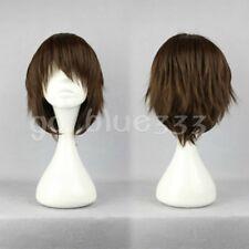 TT-902 Short layered loveless Dark Brown Anime Cosplay Wig