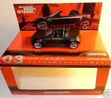 PAUL'S MODEL ART MINICHAMPS FULDA 2003 SMART ROADSTER CABRIOLET NOIR 1/43 IN BOX