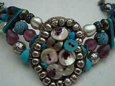 Reminiscence CHOCKER with TURQUOISE beads