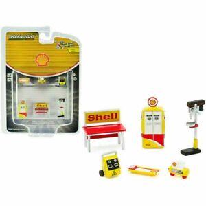 Shell Oil Shop Tool Accessories Workshop Set 6 Pcs 1:64 Greenlight