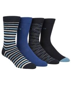 Calvin Klein Men's 4PK Striped Socks Shoe Size 7-12