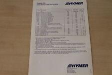 175142) Hymercamp Swing Jubilar - Preise & Extras - Prospekt 02/1996