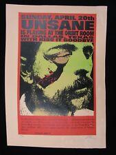 1997 Rock Concert Poster Unsane Kiss It Goodbye L Kuhn S/N LE #99 Dallas TX