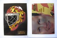 1993-94 Pinnacle 2 of 10 Vernon Mike  mask  flames