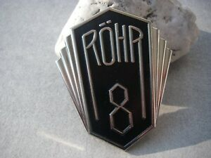 vintage german RÖHR AUTOMOBILES car manufacturer radiator badge emblem plaque