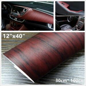 "12"" x40"" Car Interior DIY Wood Textured Grain Vinyl Wrap Sticker Dashboard Decal"