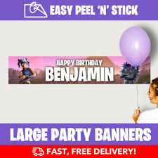 Fortnite Personalised Birthday Party Banners (110cm x 21.5cm) Design Service