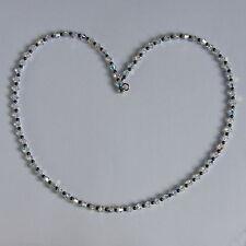 925 argento Sterling chiaro AB Cristallo Ematite Collana Swarovski Elements