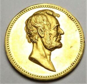 (1882) Gold Lincoln & Garfield U.S. Mint Medal Medal 26mm Julian PR-40 King-524