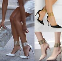 WOmen's Stilettos High heels Pointed toe Ankle Strap Prom Party Pumps Shoes