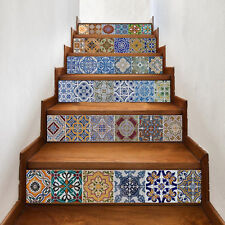 6pcs 3D Stairs Tile Risers Mural Vinyl Decal Wall Film Stickers Decor Decals New