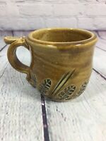 Handcrafted Coffee Cup Mug Signed Pottery Glaze Finish Studio Smith 2014