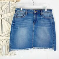 ANN TAYLOR LOFT Women's Distressed Denim Skirt Size 10