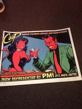COOP PMI POSTER Classic Devil With Devil Girl Signed And Numbered 3638/4000