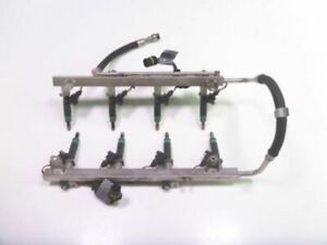 08 BMW X5 E70 Fuel Injection Injector Rail Set With 8 Injectors 7549051