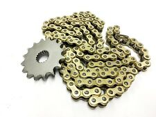 Higher Geared Chain and Sprocket set GOLD 16T front for Sinnis Apache QM125GY-2