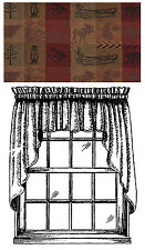 """Window Curtain Swag Pair 36"""" L - High Country By Park Designs - Burgundy"""