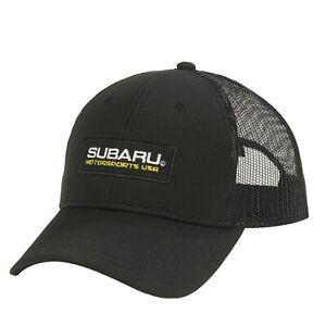 Genuine Subaru Motorsports Usa Logo Recycled Mesh Back Cap Hat WRX Racing Sti
