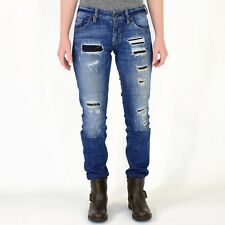"""Women's 24"""" Guess Distressed Skinny Jeans Patchwork Jeans 30"""" Inseam EUC"""
