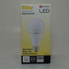 Utilitech LED Soft White Bulb w/ Battery Backup (60w Replacement) 0952508