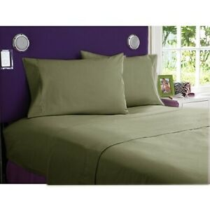 NEW 1000 TC EGYPTIAN COTTON BEDDING COLLECTION 3 PCs DUVET COVER IN MOSS COLOR