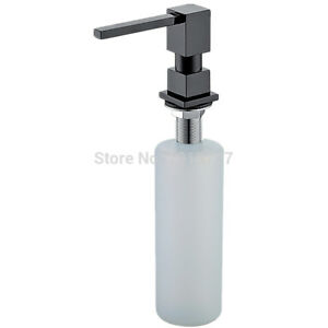 Style Pure Black/Brushed Nickel/Chrome/Gold Solid Brass Kitchen Soap Dispenser