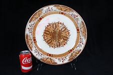 A rare large antique Societe Ceramique Maestricht dish, décor Joko