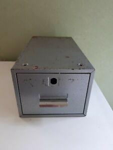 Vintage Retro Single Silver Grey Metal Filing Drawer - Industrial-Office Mancave