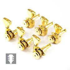 Hipshot 6K2GL0G Guitar Tuner Upgrade Kit 3+3 Grip-Lock Open UMP Kit 3x3 - GOLD