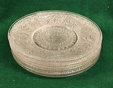 "1x INDIANA GLASS TIARA SANDWICH GLASS CLEAR Salad 6"" Plate"