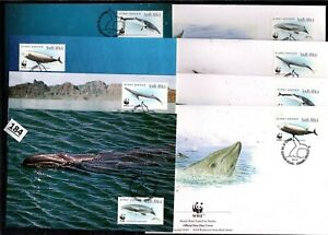 /// SOUTH AFRICA 1998 - WWF - 4 FDC+MC - WHALES