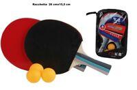 Set 6 Pezzi Racchette Ping Pong Pro Con 3 Pallina E Borsa Trasporto