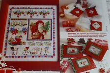 Kreuzstich Stickvorlage Monatsbild Weihnachten Dezember Point de Croix (287)