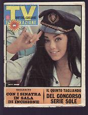 SORRISI 22/1967 KITTY SWANN GIULIANO GEMMA MINA ROCKY ROBERTS NANETTE MAYA