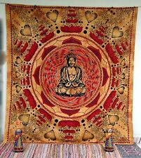 Lord Buddha Wall Hanging Tapestry Cotton Bedspread Queen Wall Decor Art Thangka