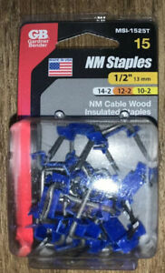 1/2 in. Blue Polyethylene and Metal Insulated Staples (15-Pack)