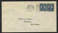 US 1925 5¢ TEDDY ROOSEVELT COIL PAIR ON FDC WASHINGTON DC MAR 5 1924