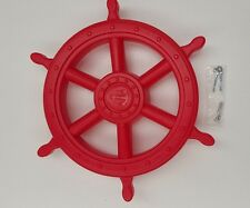 JUMBO SHIP WHEEL~RED Cubby House Accessories Fort Playground Equipment