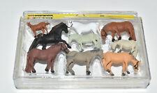 NOCH H0 15761 Pferd / Pferde großes Set NEU in OVP Tierset