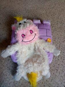 CamKpell Juguetes para la habitaci/ón de los ni/ños Animales de Esquina Rellenos Soporte de Almacenamiento Grande Net Pet Plush Toys Hamaca Net Storage Holder Organizer Blanco
