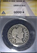 1895-O Barber Half Dollar, ANACS-GOOD 4, Issue free