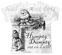 "Dirty Fingers ""Humpty Dumpty"" Baby T-Shirt All Over Print Nursery Rhymes"