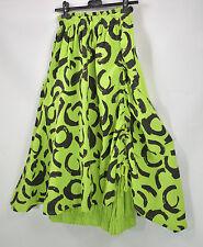 SARAH SANTOS 100% LINEN  hitched parachute skirt in lime size L/XL