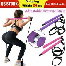 Pilates Bar Kit, Pilates Stick with Resistance Bands, Yoga Stick, Gym Stick