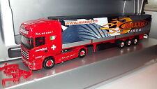 herpa SCANIA--R ---schöni ------Logistik Schweiz / MAXXIS TIRES----Werbemodell--