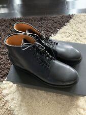 NIB Viberg Derby Boots Black Classic Calf Size 9 Made In Canada