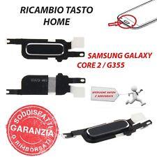 Ricambio Connettore Button Tasto Home Nero Per Samsung Galaxy Core 2 SM-G355HN